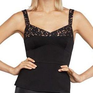 BCBGMaxAzria black lace trim corset top XS or S